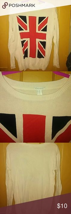 Flag sweater M 100% cotton Excellent used condition Lightweight Perfect for all seasons Forever 21 Sweaters Crew & Scoop Necks