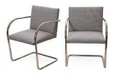 brno chairs in houndstooth