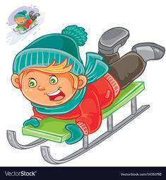 Little child slides on a sled Royalty Free Vector Image Free Vector Images, Vector Free, Winter Illustration, Little Children, Single Image, Sled, Adobe Illustrator, Royalty, Pdf