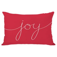 Bring a touch of cheer to your sofa or favorite reading nook with this down-filled pillow, featuring a script motif.   Product: Pill...