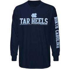 North Carolina Tar Heels (UNC) Runner Long Sleeve T-Shirt - Navy Blue
