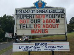 #australia #auspol #tonyabbott #rupertmurdoch #scottmorrison #manusisland #gosfordanglicanchurch