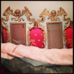 Coming soon: Our showroom! In this picture: A pair of Italian 19th century mirrors.
