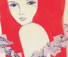 Alicia Rogerson is an Artist and Illustrator living in Bridgetown in the South West of Australia. Music Sheet Paper, My Art Studio, Vintage Music, All Print, Order Prints, Cool Art, Awesome Art, Mixed Media Art, Art Forms