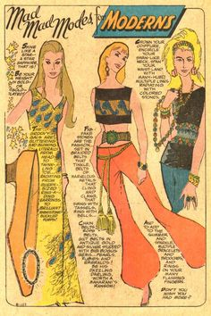 Mad Mad Modes for Moderns ~ Vintage Comic Book Fashions