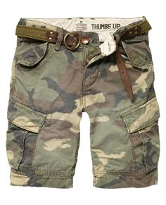 Military cargo shorts for boys by Scotch Shrunk