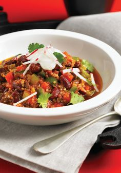 Garden Vegetable Quinoa Chili - Healthy Gluten Free and Delicious from Everyday Gluten Free