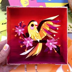 We still have a few originals left, including this little guy who was just returned to us! Stop by our booth (just inside the Hall F doors) and say hello! 3d Paper Art, Origami Paper Art, Paper Artwork, Paper Crafts, Brittney Lee, Paper Illustration, Illustrations, Kirigami, Art Plastique