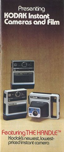 Kodak Instant Cameras & Film Product Catalog:1977; EK4, EK6, Handle