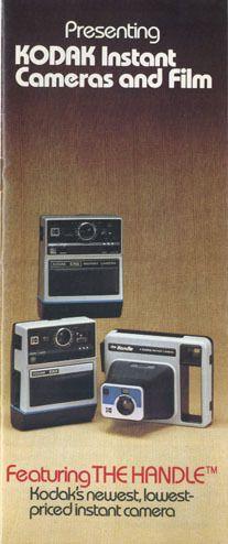 Kodak Instant Cameras & Film Product Catalog:1977; EK4, EK6, Handle