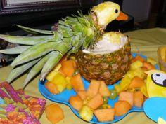 Homemade pineapple fruit bowl - saw on Pinterest