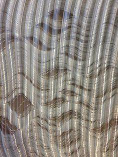 Warp dyed tool weaving