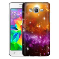 Samsung Grand Prime Nebula Yellow Purple Case