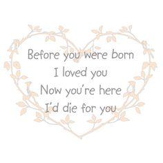 """Geboortesticker """"Before you were born"""""""