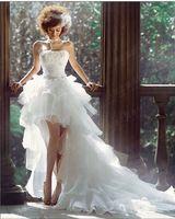 Vestido de boda corto 2015 blanco formal keen longitud de la novia tribunal tren vestido vestido de noiva curto casamento