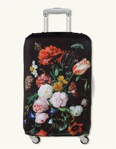 STILL LIFE WITH FLOWERS LUGGAGE COVER - Dutch Floral Suitcase Cover