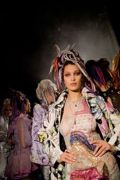 Behind-the-Scenes at the Marc Jacobs Spring '17 show with Bella Hadid