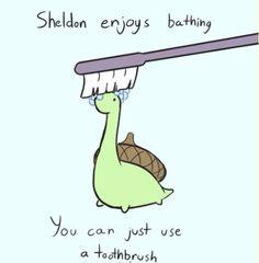 Bath time Sheldon