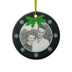 #Holly and #Snowflake #Memorial: #Picture #Ornament