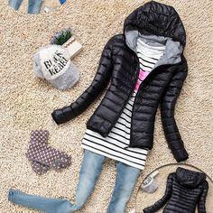 De algodão com capuz mulheres Jacket 2016 nova moda inverno engrosse Casual mulheres casaco fino Outwear acolchoado chaquetas mujer