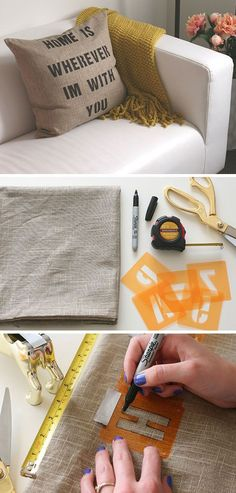 DIY Quote Pillows | Click Pic for 30 DIY Home Decor Ideas on a Budget | DIY Home Decorating on a Budget