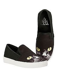 HOTTOPIC.COM - Cat Slip-On Shoes