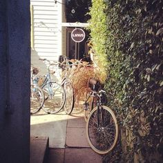 Linus Bikes sitting in the Alley