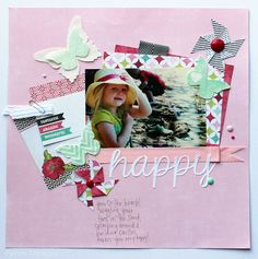 #papercraft #scrapbook #layout.  Camp and Crop Scrapbooking Weekend- Project Recap