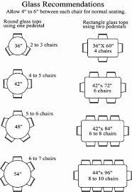 Image result for 6 top glass table measurement