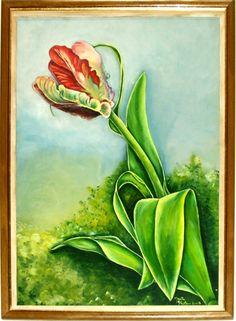 Solo en el jardín,, tulipan disidente