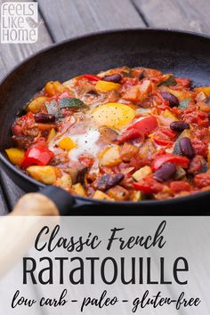 How to make the best classic authentic French ratatouille recipe - This simple and easy stew includes zucchini eggplant and squash. It's super healthy when made the traditional way. Made on the stovetop. Whole 30 paleo approved. Low carb and vegetarian. Cheap Clean Eating, Clean Eating Snacks, French Ratatouille Recipe, Ratatouille Recipe Crockpot, Healthy Dishes, Healthy Recipes, Eat Healthy, Delicious Recipes, Bariatric Eating