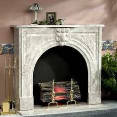 Marble fireplace surround in modern home victorian marble fireplace . Marble Fireplace Surround, Stone Mantel, Fake Fireplace, Wood Mantels, Marble Fireplaces, Fireplace Surrounds, Indoor Fireplaces, Fireplace Ideas, Indoor Electric Fireplace