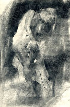 In Shadow by Jennifer McChristian Charcoal ~ 14 x 11