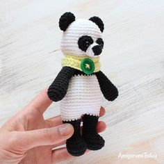 Give a hearty welcome to this little crochet panda from the Cuddle Me toy family! 🐼💕😙 You can find the panda pattern on Amigurumi Today website (link in the profile description). #amigurumi #panda #crochet #amigurumiaddict #crocheting #crafting #fiberart #amigurumipattern #crochetpattern #patterns #tutorials #howto #diy #handmade #amigurumitoday #amigurumitoy #crochettoy #amigurumis #crochetproject #amigurumidoll #crochetdoll #plushtoy #softie #cuddle #cuddleme #cuddlemepanda