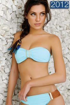 Turquoise Bandeau Bikini