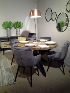 Ronde eettafel Maxim teak/iron – Salonshop IM Willems Home Interiors Kitchen Gallery Wall, Dining Room, Dining Table, Diy Table, Cozy House, Teak, New Homes, Interior Design, Furniture