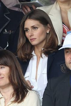 White shirt, navy blazer.     Olivia Palermo is the most irritatingly well put-together person on the planet.