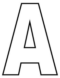 Best 12 These capital letter outlines are perfect for crafts and letter recognition activities! Alphabet Letter Templates, Alphabet Letter Crafts, Alphabet Stencils, Printable Letters, Alphabet Worksheets, Alphabet And Numbers, Preschool Alphabet, Letter Tracing, Handwriting Worksheets