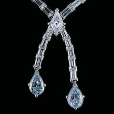 Joseph DuMouchelle Jewels (@josephdumouchelle) on Instagram: In 1996, @josephdumouchelle sold this diamond necklace with dual 0.96ct and 1996, @josephdumouchelle sold this diamond necklace with dual 0.96ct and 1.02ct fancy blue diamonds. #josephdumouchelle #auction #coloreddiamonds #bluediamonds