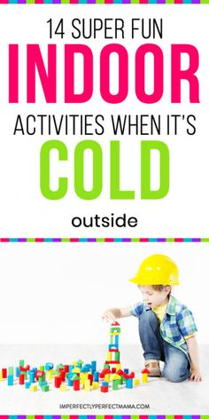 Indoor activities for toddlers when it's too cold outside! Get some easy and fun toddler indoor activities that can give hours of free time for busy moms! Indoor Activities For Toddlers, Activities For Kids, Preschool Activities, Parenting Advice, Kids And Parenting, Kids Barn, Me As A Parent, Thing 1, Mentally Strong