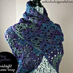Midnight Aura Wrap Free Pattern from Oombawka Design