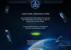 AXE offers 22 suborbital space flight seats for brave civilian contestants