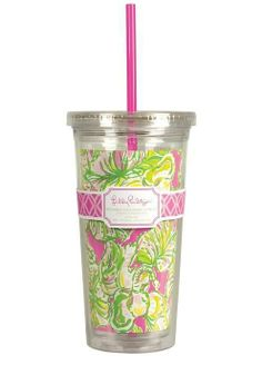 Lilly Pulitzer Tumbler With Straw $16