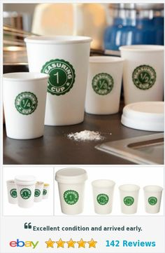 Kikkerland Coffee Cup Nesting Measuring Cups set of 4 cups with lid CU98 plastic