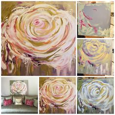 How to paint a beautiful Flower Bloom on canvas.