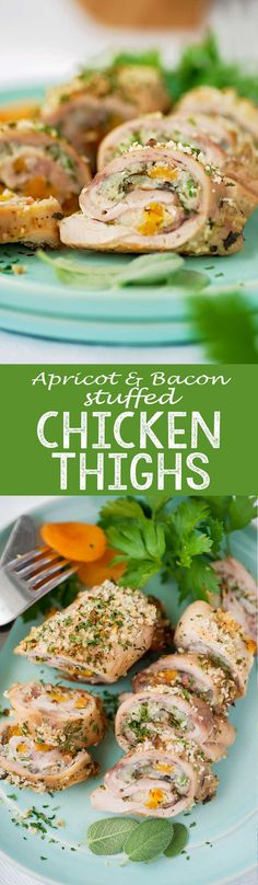 Apricot and Bacon Stuffed Chicken Thighs - Eazy Peazy Mealz