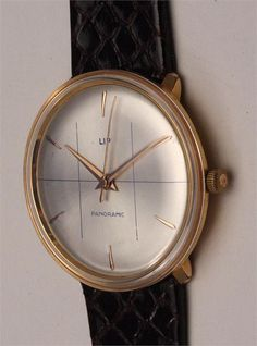 1960 Vintage LIP Panoramic Watch and other Antique Watches at Watchismo
