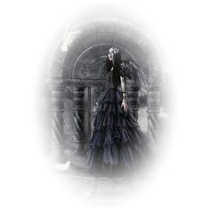 Anges ❤ liked on Polyvore featuring tubes, people, goth, gothic and halloween