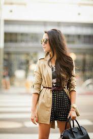 vestido+ trenct coat + cinto