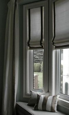 Beautiful roman shades!